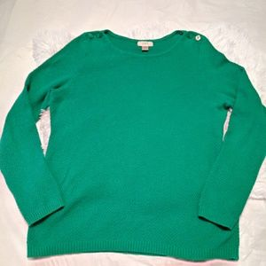 Ann Taylor LOFT green sweater